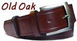 38mm Old Oak Handmade English Bridle Leather Belt With Buckle - made in England by Bucklebox